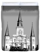 St Louis Cathedral Poster 1 Duvet Cover