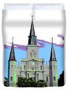 St Louis Cathedral Poster 2 Duvet Cover