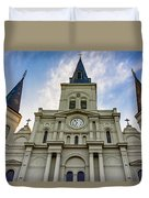 St Louis Cathedral Twilight Duvet Cover