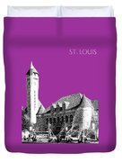 St Louis Skyline Union Station - Plum Duvet Cover