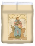 St Luke The Evangelist Duvet Cover by English School