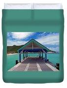 St. Maarten Pier Duvet Cover