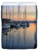 St. Malo Sunrise Brittany France Duvet Cover