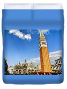 St Marks Square - Venice Italy Duvet Cover