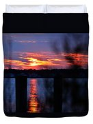St. Marten River Sunset Duvet Cover