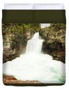 St Mary Falls Glacier National Park Duvet Cover