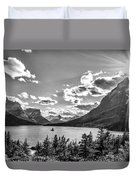 St. Mary Lake Bw Duvet Cover