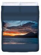 St. Mary Lake Dawn 1 Duvet Cover