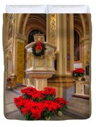 St. Mary Of The Angels Christmas Lectern Duvet Cover