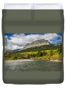 St. Mary River And East Flattop Mountain Duvet Cover