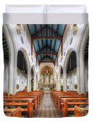 St Mary's Catholic Church - The Nave Duvet Cover