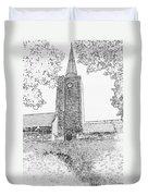 St Marys Church Tenby Duvet Cover