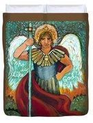 St. Michael The Archangel Duvet Cover