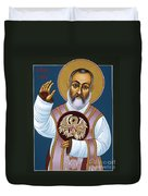 St. Padre Pio Mother Pelican 047 Duvet Cover