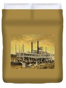 St. Paul Steamboat Duvet Cover
