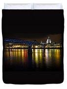 St Pauls And Millenium Bridge Duvet Cover