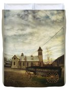 St. Pauls Anglican Church With Wagon  Duvet Cover