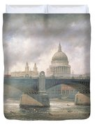 St. Paul's Cathedral From The Southwark Bank Duvet Cover