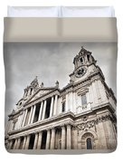 St Pauls Cathedral In London Uk Duvet Cover