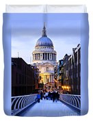 St. Paul's Cathedral London At Dusk Duvet Cover