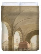 St. Pauls, Covent Garden C.1765-75 Graphite And Wc On Paper Duvet Cover
