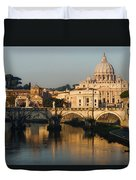 St Peter Morning Glow - Impressions Of Rome Duvet Cover