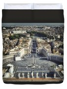 St Peter's Square Duvet Cover by Joan Carroll