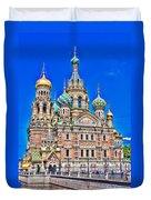 St Petersburg Church Duvet Cover