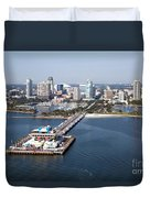 St Petersburg Skyline And Pier Duvet Cover