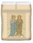 St Philip And St James Duvet Cover by English School