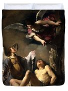 St. Sebastian Succoured By Two Angels Duvet Cover