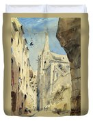 St. Severin Paris Duvet Cover by James Holland