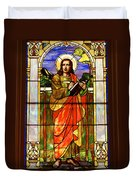 St. Stan's Stained Glass Duvet Cover