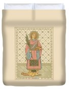 St Stephen Duvet Cover by English School