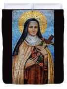 St. Theresa Mosaic Duvet Cover