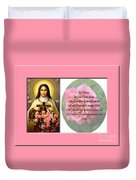 St. Theresa Prayer With Pink Border Duvet Cover