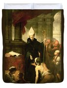 St. Thomas Of Villanueva Distributing Alms, 1678 Oil On Canvas Duvet Cover
