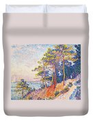 St Tropez The Custom's Path Duvet Cover by Paul Signac