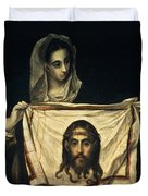 St Veronica With The Holy Shroud Duvet Cover