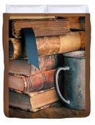 Stack Of Vintage Books Duvet Cover