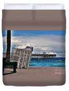 Stacked Beach Chairs Duvet Cover