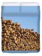 Stacks Of Logs Duvet Cover