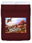 Stagecoach Robbery Duvet Cover