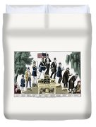 Stages Of A Mans Life  1848 Duvet Cover