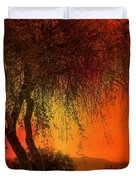 Stained By The Sunset Duvet Cover