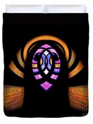 Stained Glass Abstract Duvet Cover
