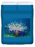 Stained Glass Anemone 1 Duvet Cover