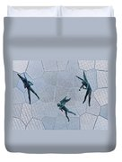 Stained Glass Angels Duvet Cover