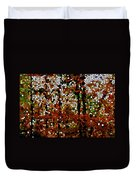 Stained Glass Autumn Colors In The Forest  Duvet Cover