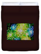 Stained Glass Beautiful Fireworks Duvet Cover